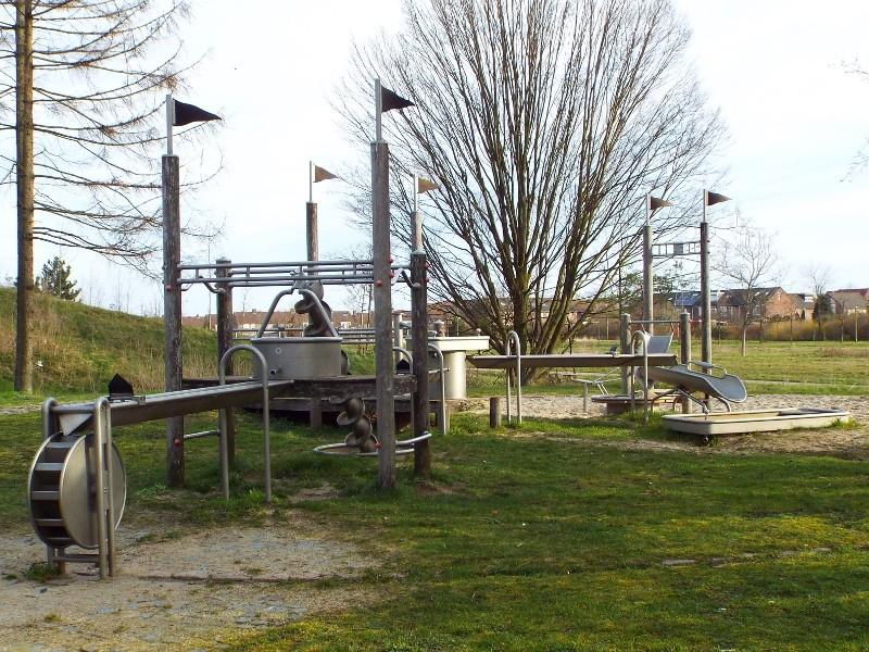 Waterspeelplaats in het Klingerbergpark