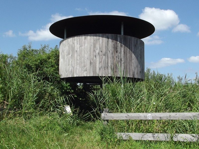 Uitkijktoren in het natuurgebied De Maaij