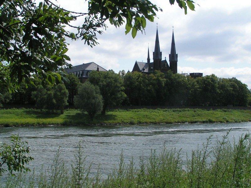 Zicht op klooster in Steyl