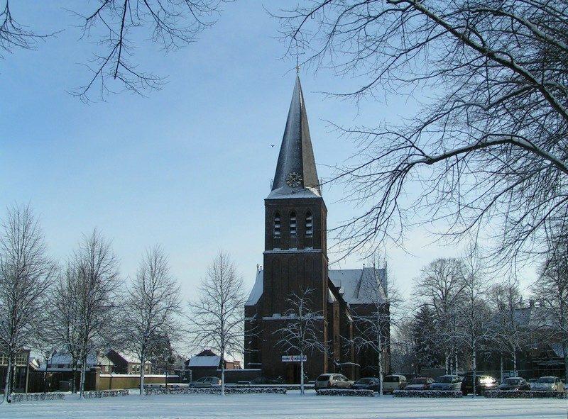 De kerk in Sint Anthonis