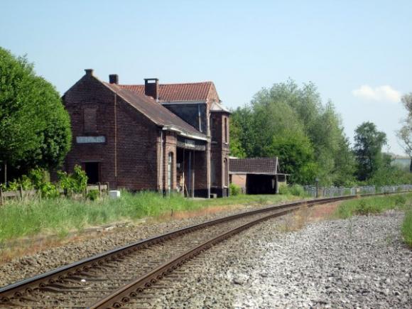 Het oud stationneke op het gehucht Rieme