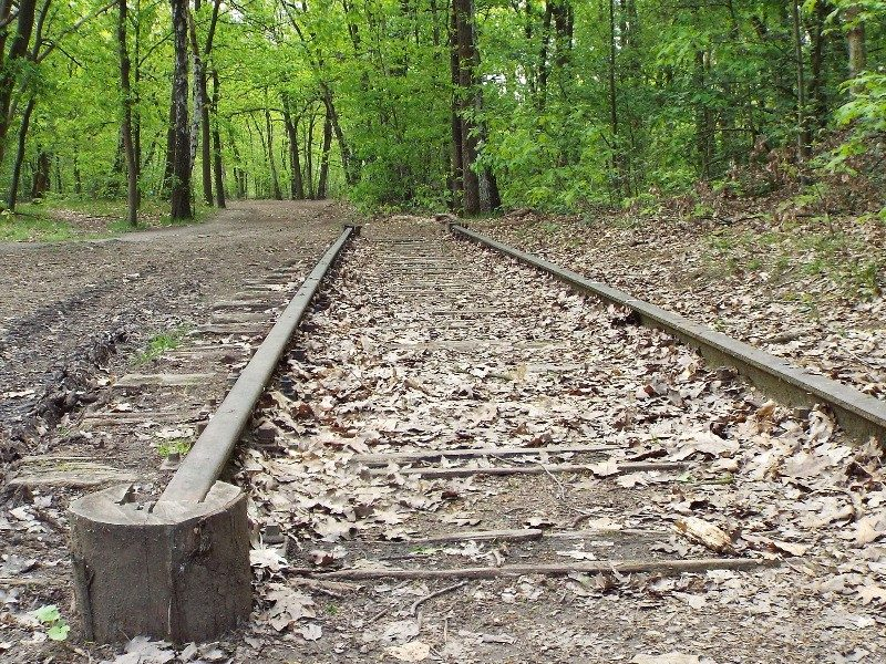Stukje spoorlijn ter herdenking kamp Vught