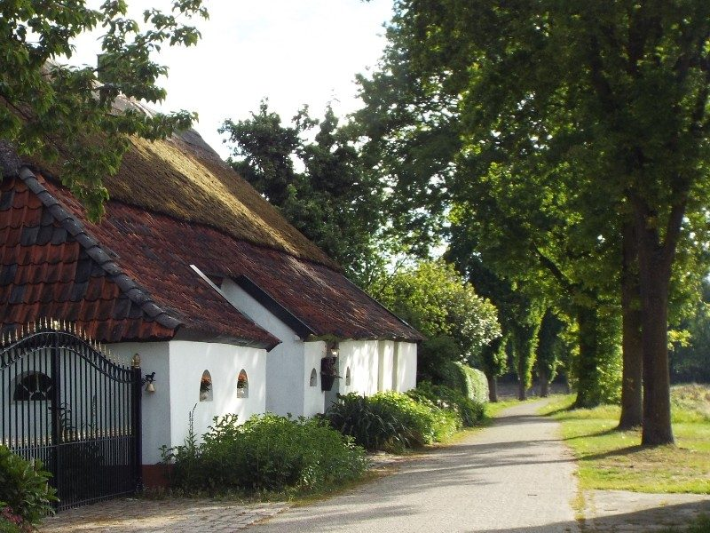 Een van de boerderijen