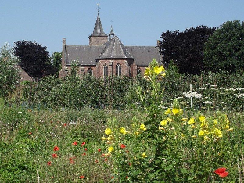 Restant van kasteel Blitterswijck nu in een heel ander seizoen