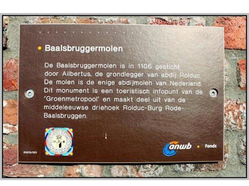 Info over de Baalsbruggermolen
