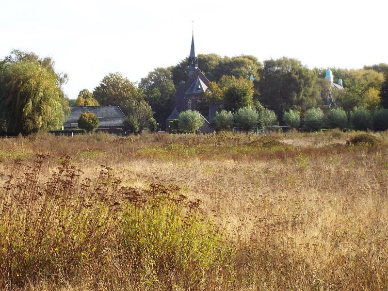Uitzicht vanuit terrein bij Natuurcentrum De Specht