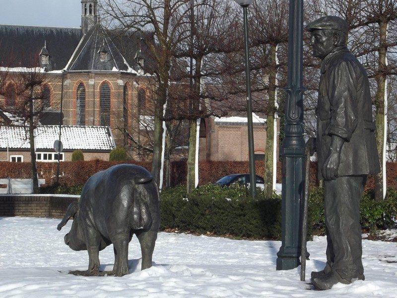 'Bereleider', een boerke en zijn mannetjesvarken