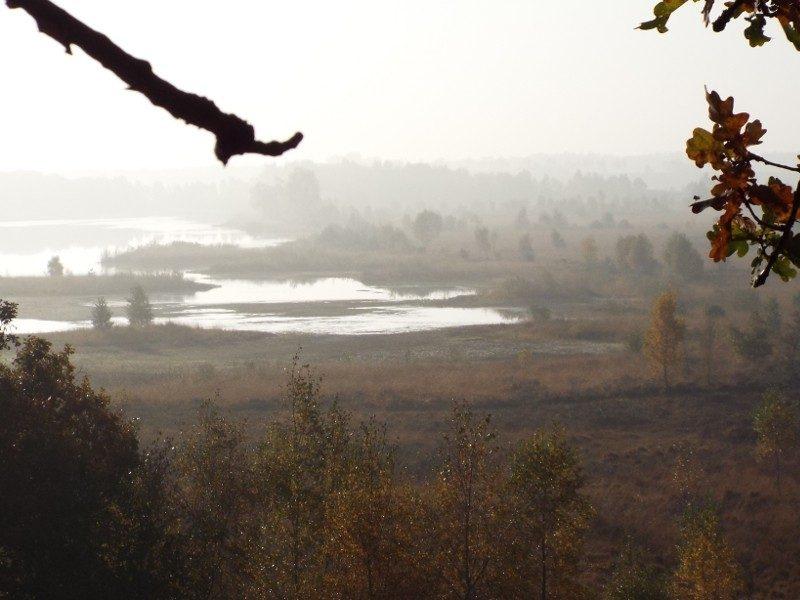 Uitzicht vanuit de Dikkenberg maar nu in een ander seizoen
