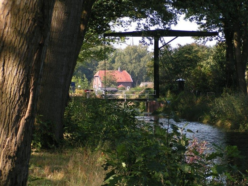 Een van de vele brugjes in Griendtsveen