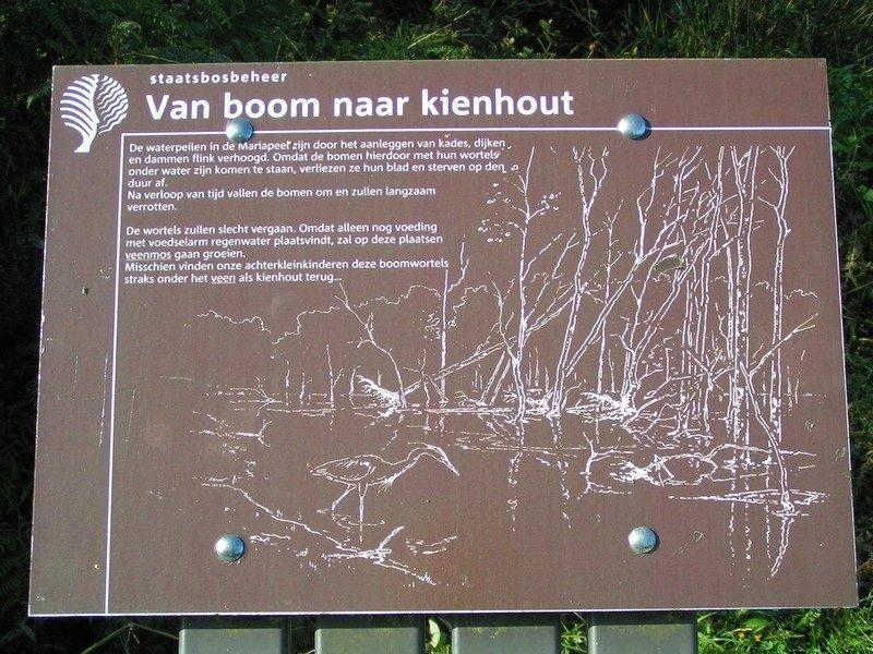 Informatiepaneeltje, van boom naar kienhout