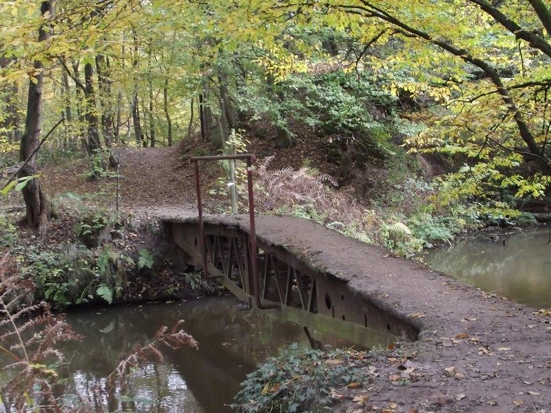 Voetgangersbaileybrug uit WOII