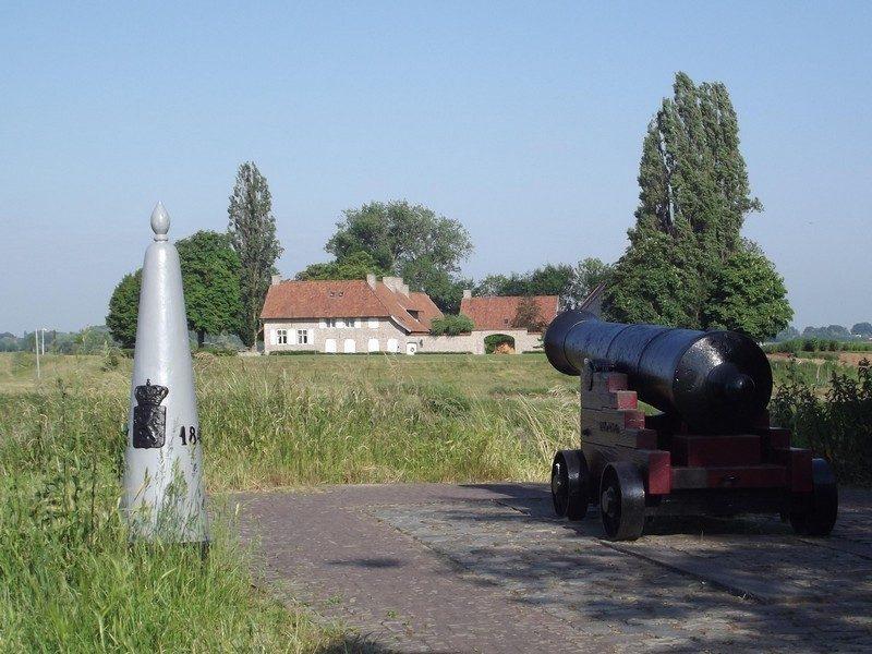 Stevensweert, de grens met België