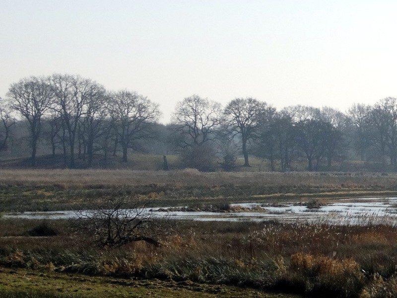 Zicht op een oud landschap vanaf de uitkijktoren
