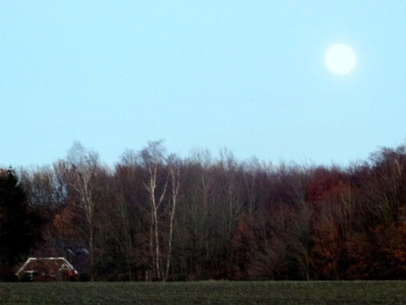Volle maan op de zuides