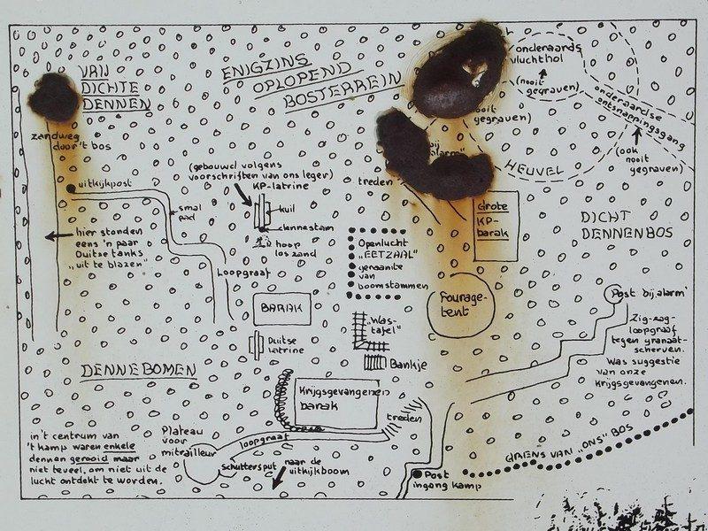"""Plattegrond van kamp """"De Bospartizanen van Baarlo"""""""