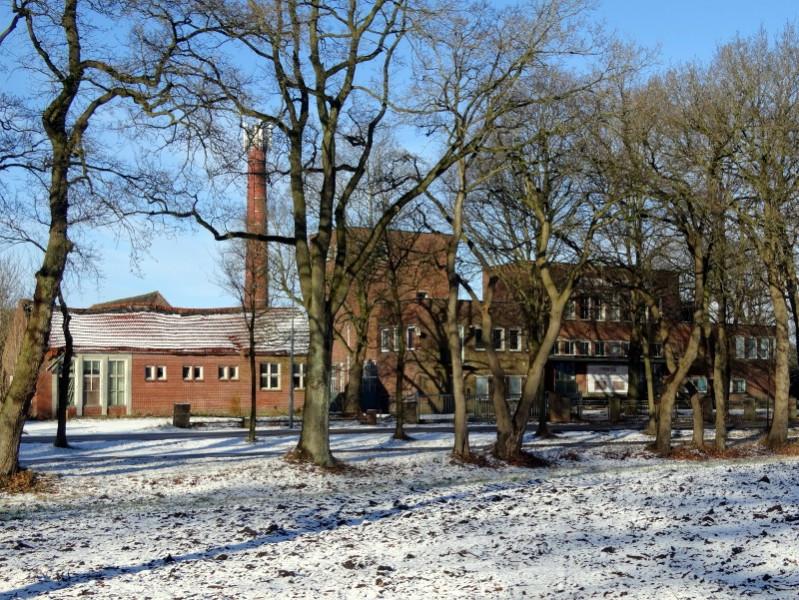 De oude melkfabriek in Laude