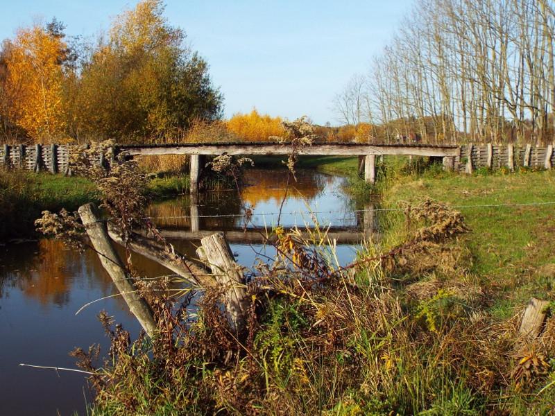 Replica van een Romeinse brug