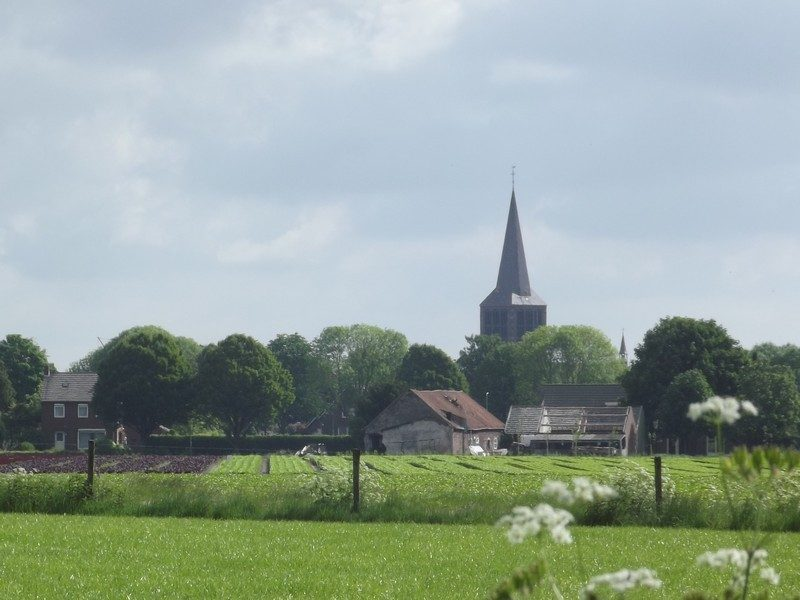 Zicht op de kerk van Sevenum