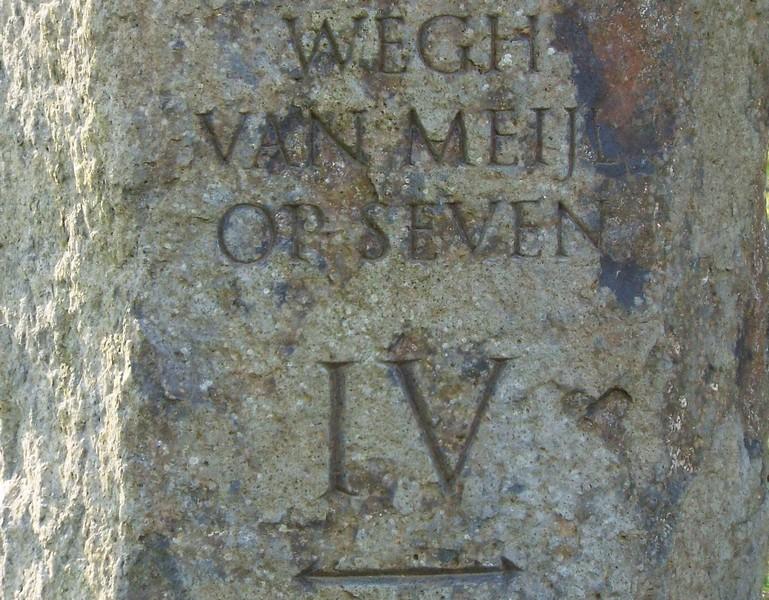 Basaltzuil IV van 'Wegh van Meijl op Seven'