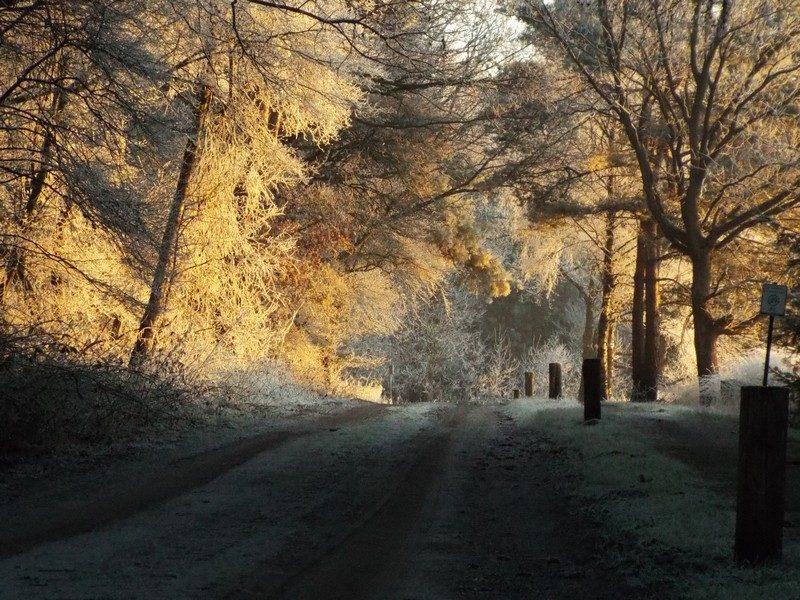 De Krim, de zon begint op te komen