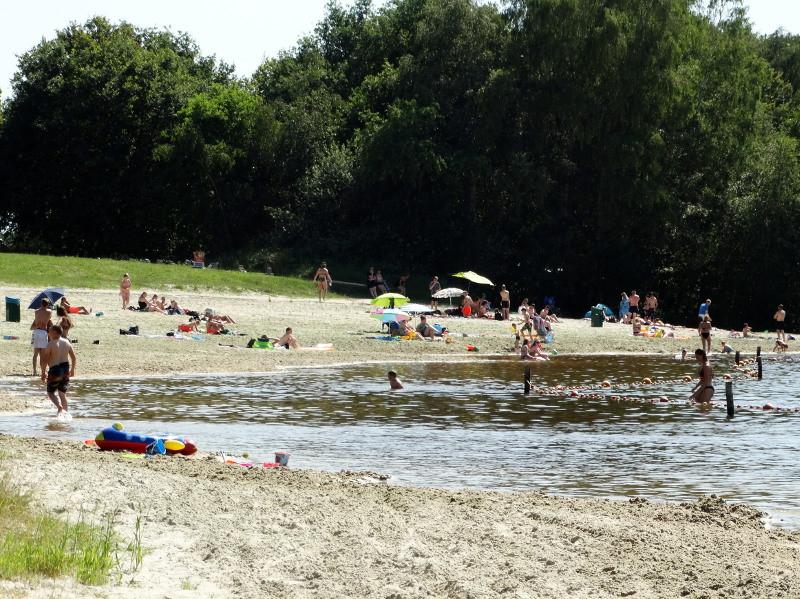 Het strand van de Beetse in de zomer