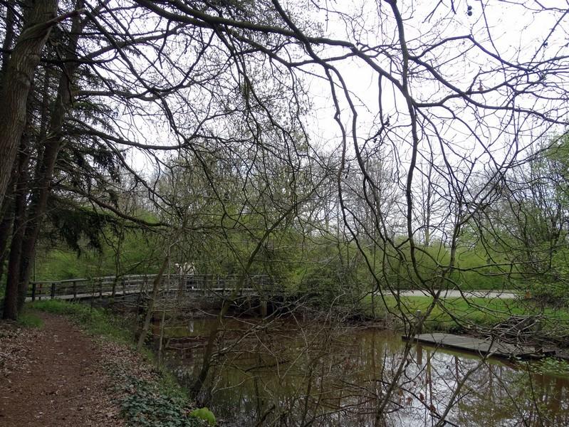 De houten brug over de Ruiten Aa