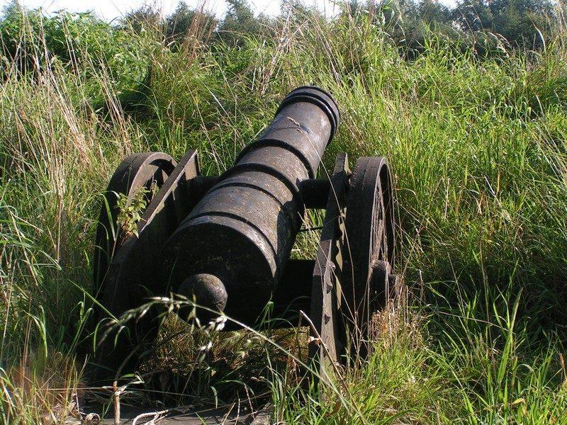 Kanon op een van de wallen