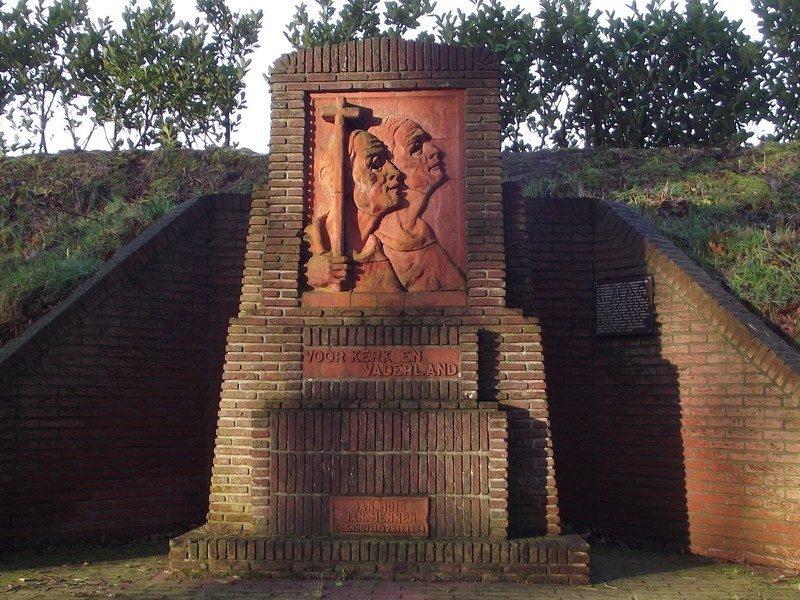 WOII monument ter nagedachtenis aan oorlogsslachtoffers