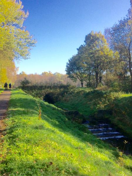 Een pad langs de Nordradde