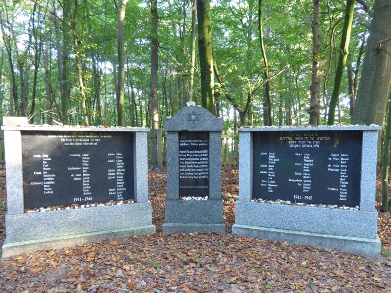 Het monument op de Joodse begraafplaats