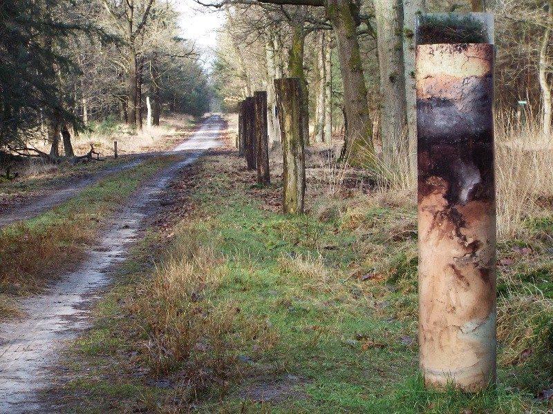In de rechtse paal voorbeeld van de verschillende grondlagen