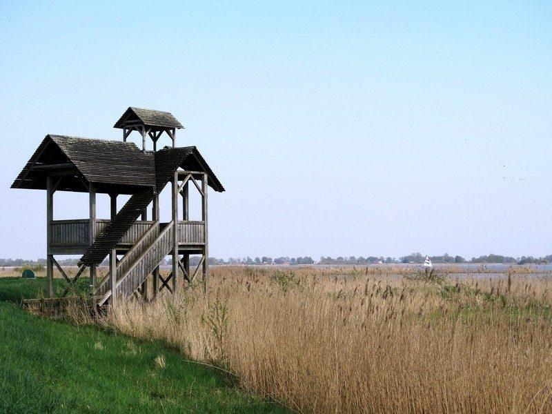 De uitkijktoren bij het Zuidlaarder Meer