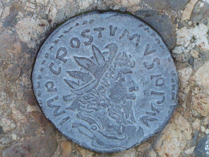 Voorbeeld van Romeinse munt
