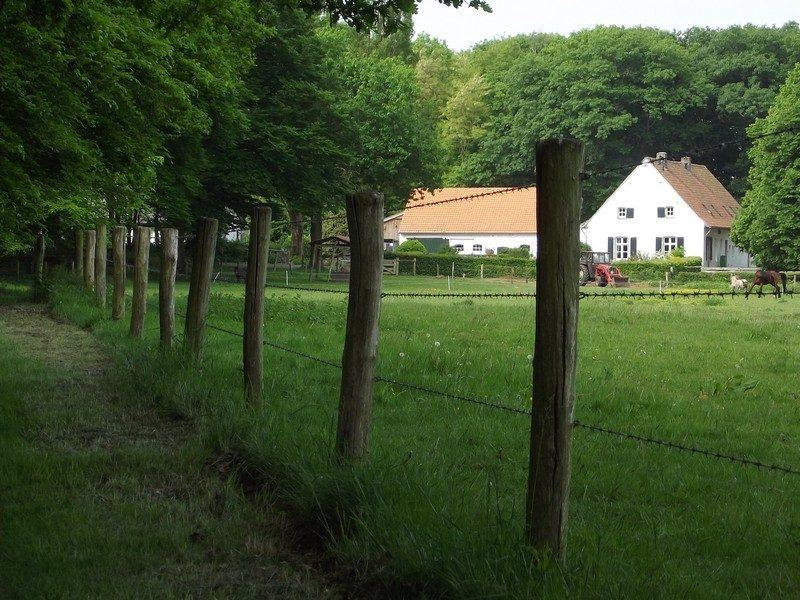 In de verte hoeve Heerenhof 't Voorhuys en  't Achterhuys