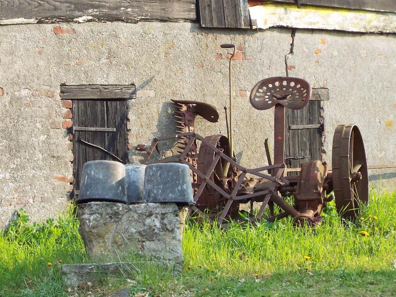 Maaimachine werd gebruikt voor het maaien van koren
