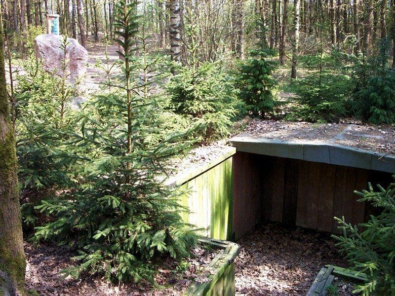 Een van de schuilplaatsen voor 16 Joden (reconstructie).