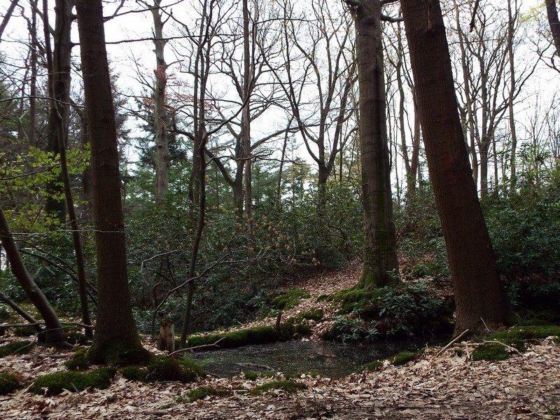 Pad naar heuvel met lege grafkelder