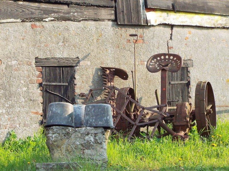 Maaimachine werd gebruikt om koren te maaien