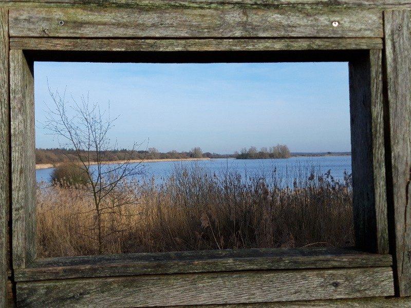 Uitzicht vanaf het kijkscherm