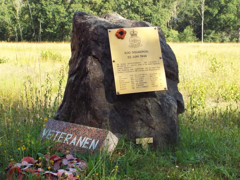 Monumentje ter nagedachtenis aan een vliegtuigcrash WOII