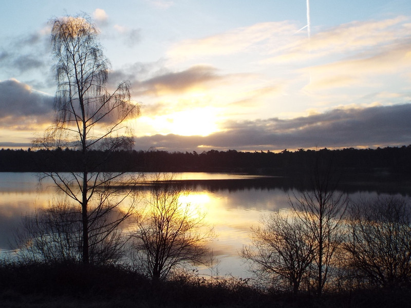 Het Reindersmeer bij zonsopkomst