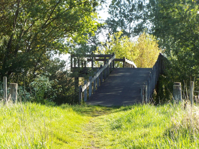 Het brugje over de Snelle Loop