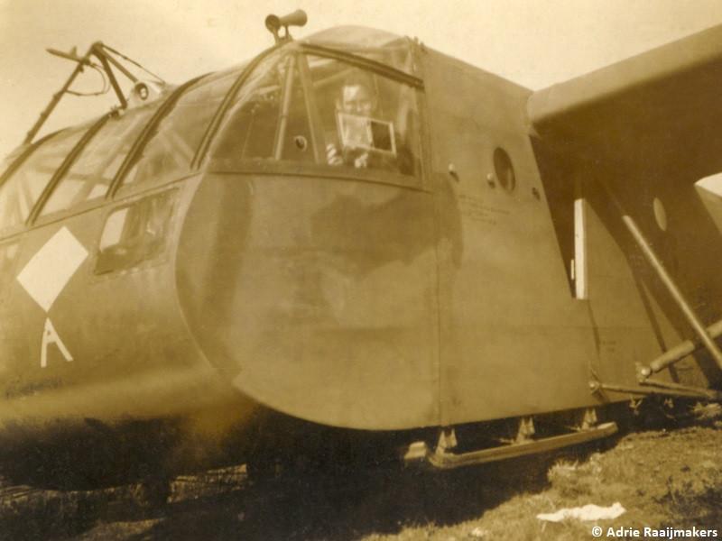 Zweefvliegtuig op de Sonse Heide tijdens operatie Market Garden